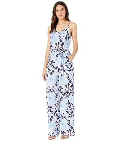 Lilly Pulitzer Dusk Jumpsuit (Bright Navy Amore Please) Women
