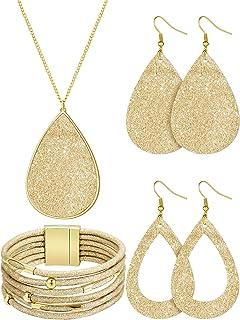 گردنبند گردنبند چرم مجلسی چوبی طرح طلا و جواهر دستبند عروس چند لایه