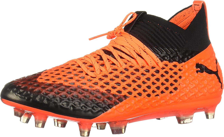 PUMA Future 2.1 Netfit Fg Ag Mens orange Synthetic Soccer Cleats shoes