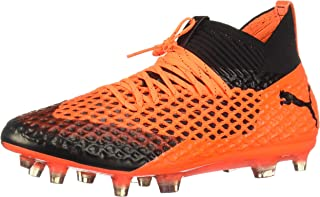 PUMA Future 2.1 Netfit Fg Ag Mens Orange Synthetic Soccer Cleats Shoes