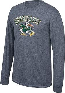 Elite Fan Shop NCAA Long Sleeve T Shirt Charcoal Vintage