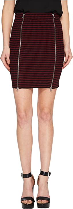 McQ - Bodycon Zip Short Skirt
