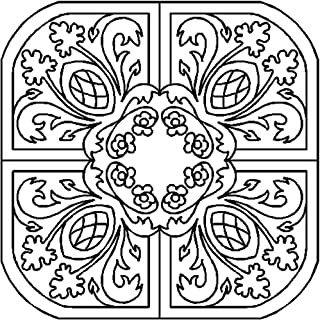 """Quilting Creations Flowerbed Quilting Stencil, 16"""""""