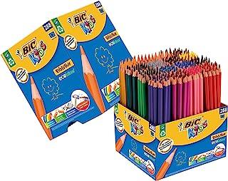BIC Kids Evolution ECOlutions Colouring Pencils - Assorted Colours, Classpack of 288 Coloured Pencils Set