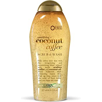 OGX Coconut Coffee Scrub and Wash, 19.5oz