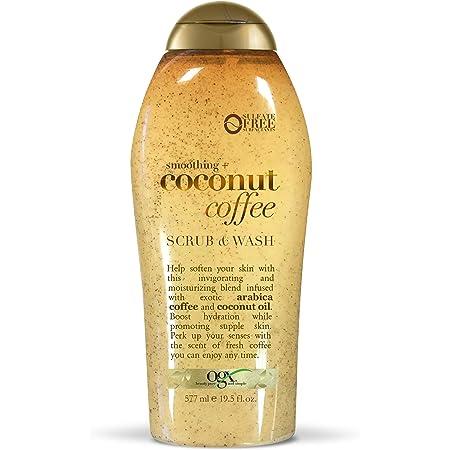 OGX Coffee Scrub and Wash, Coconut 19.5 Fl Oz