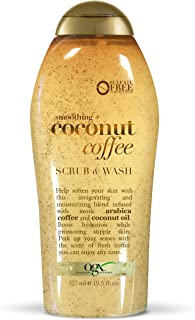OGX Smoothing + Coconut Coffee Body Scrub & Wash, 19.5 Ounce