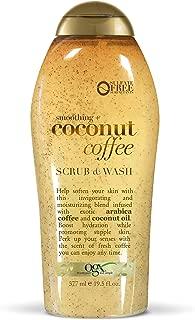 OGX Smoothing + Coconut Coffee Body Scrub & Wash, 19.5 Ounce