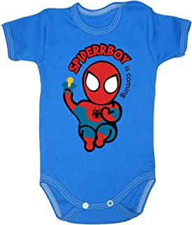 Colour Fashion Body Spiderman à manches courtes 100% 0-24 mois 0003 (18-24 mois, 92 cm, bleu)