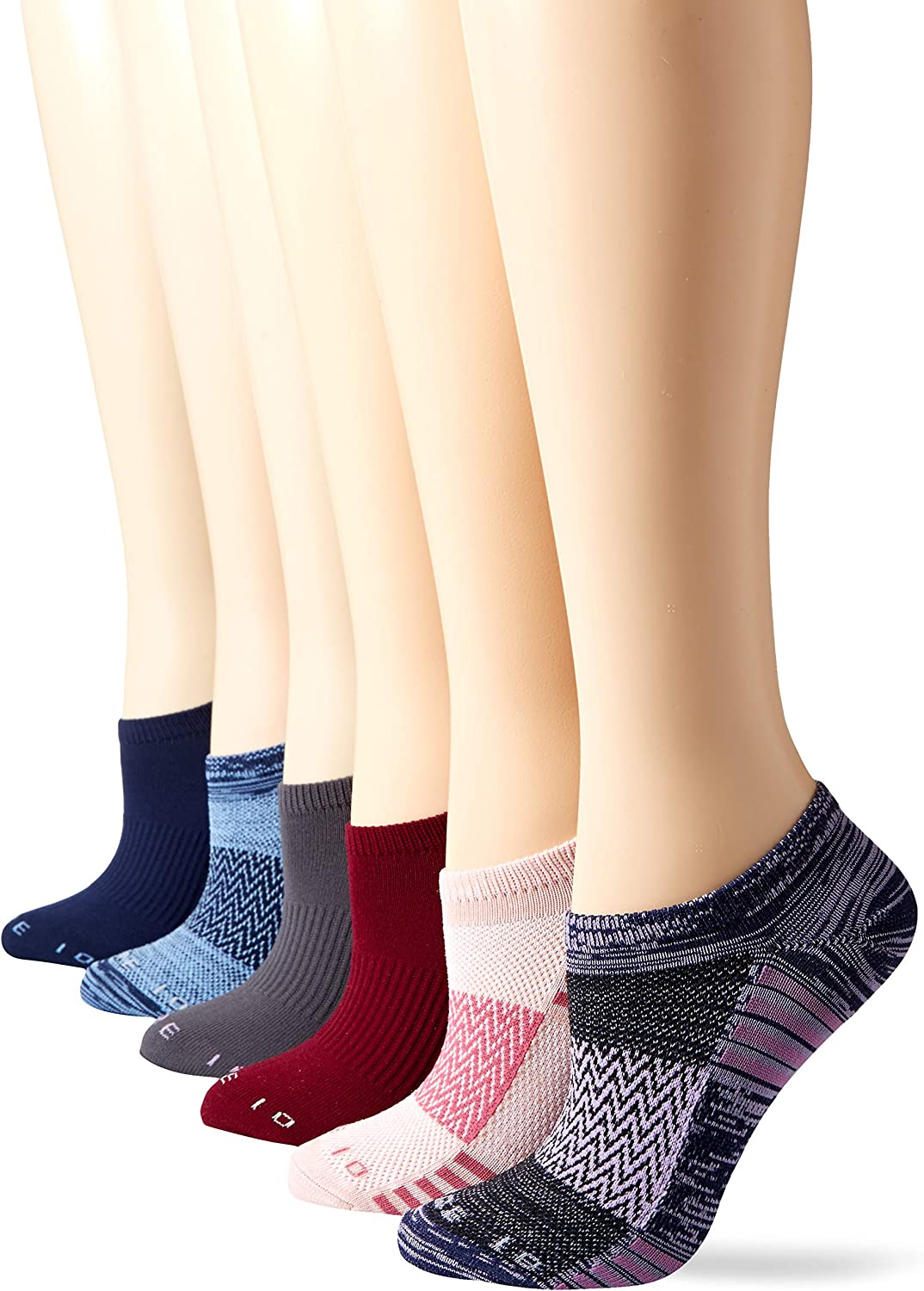Core 10 womens 6-Pack Performance Sport Athletic No Show Socks
