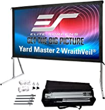 Elite Screens Yard Master 2 DUAL Projector Screen, 135-INCH 16:9, Front and Rear 4K/8K Ultra HD, Active 3D, HDR Ready Indo...
