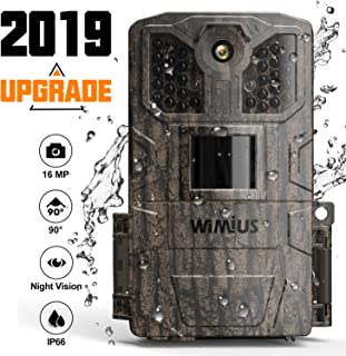 Trail Camera,Game Camera 2019 Upgraded 16M 1080P Hunting Camera with Night Vision Motion Activated Waterproof up to 70ft 0.5s Trigger Speed for Home Security Wildlife Animal Cameras