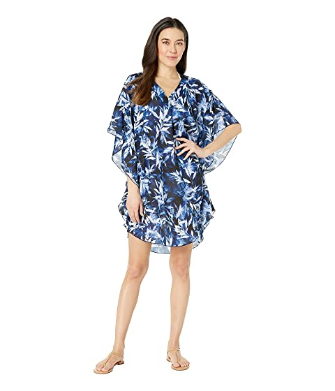 8fbcbefb39 Maxine of Hollywood Swimwear Printed in the Navy Chiffon Caftan ...