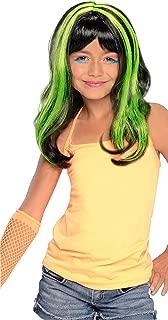 Green Neon Streaks Wig