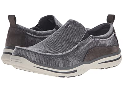 SKECHERS Relaxed Fit Elected Drigo (Charcoal Canvas) Men
