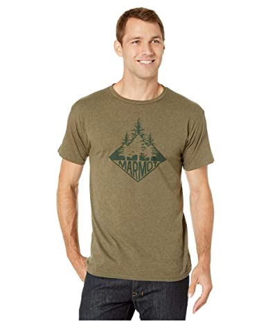 Marmot Rising Forest Short Sleeve Tee (Olive Heather) Men