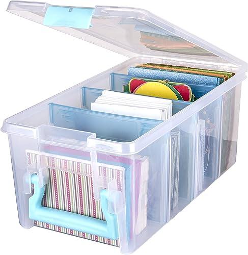 Art Bin ArtBin 6925AA Semi Satchel with Removable Dividers, Portable Art & Craft Organizer with Handle, [1] Plastic S...