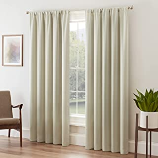 """ECLIPSE Room Darkening Curtains for Bedroom - Tricia 52"""" x 84"""" Thermal Insulated Single Panel Rod Pocket Light Blocking Cu..."""