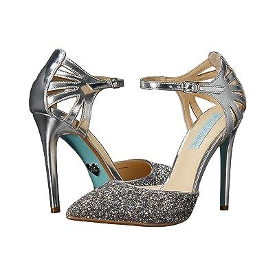 Blue by Betsey Johnson Avery (Silver Metallic) High Heels