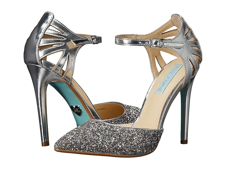 Blue by Betsey Johnson Avery (Silver Metallic) High Heels