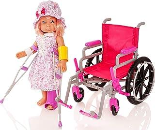 Molly Dolly - Juego de Hospital para sillas de Ruedas, muñeca, 18 Pulgadas