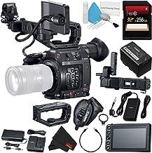Canon EOS C200 EF Cinema Camera #2215C002 + 256GB SDXC Card + Professional 160 LED Video Light Studio Series + Deluxe Clea...