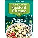 SEEDS OF CHANGE Riz Complet Quinoa & Orge Certifié Bio Cuisson 2 Min Micro-Ondable 240 g
