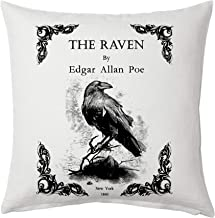 Universal Zone The Raven by Edgar Allan Poe Pillow Cover, Book Pillow Cover.