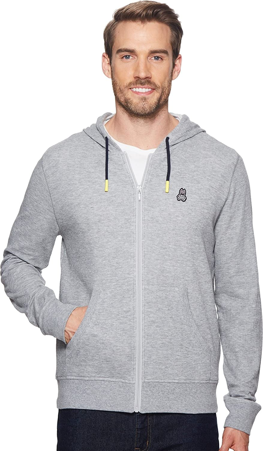 Psycho Bunny Mens Double Face Hoodie w Printed Interior Logo