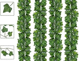 Boic Lierre Artificielle Plantes Guirlande Vigne 24 Pcs 6.5 Ft Vegetal Artificiel Lierre Exterieur Décoration pour Mariage...