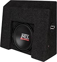 "$549 » AMPLIFIED Thunderform by MTX 10"" Loaded Custom Sub Box 2007-2016 CHEVY Silverado / GMC Sierra CREW CAB"