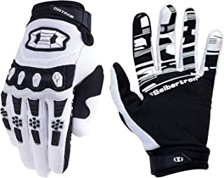 black and white motorcycle gloves