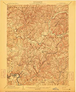 YellowMaps Elders Ridge PA topo map, 1:62500 Scale, 15 X 15 Minute, Historical, 1904, Updated 1912, 19.9 x 16.5 in