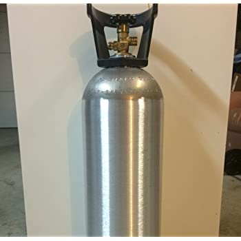 New 20 lb Aluminum CO2 Cylinder with Handle and New CGA320 Valve