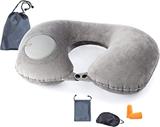 Blacksail Inflatable Neck Travel Pillow for Airplane Car with Portable Carry Bag