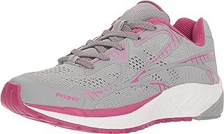 Propet Women's One LT Sneaker, Grey/Berry, 10.5 XX-Wide