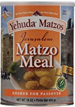 Yehuda, Jerusalem Matzo Meal, 16oz Container with Resealable Cover, Kosher for Passover