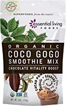 Essential Living Foods Organic Coco Gogo Smoothie Mix, With Cacao, Lucuma, Mesquite, Coconut Sugar, Guarana, Caffeine, Veg...