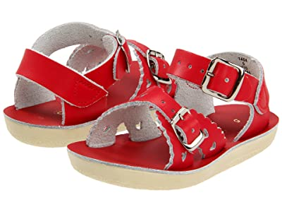 Salt Water Sandal by Hoy Shoes Sun-San Sweetheart (Toddler/Little Kid) (Red) Girls Shoes