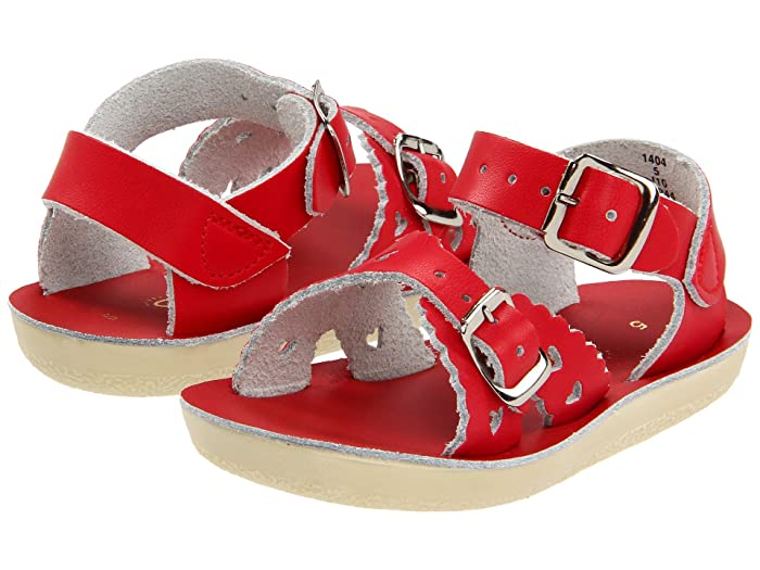 Salt Water Sandal by Hoy Shoes  Sun-San - Sweetheart (Toddler/Little Kid) (Red) Girls Shoes