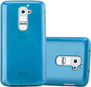 Cadorabo Case Works with LG G2 in Turquoise – Shockproof and Scratch Resistant TPU Silicone Cover – Ultra Slim Protective Gel Shell Bumper Back Skin