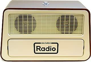 Memory Loss One Button Radio/Large Analog Retro Style Dementia Radio/Size: 11.75