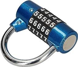 KOTARBAU® Combinatiebeugelslot, 65 mm, rond, 5-cijferig combinatieslot, combinatieslot, hangslot, inbraakbeveiliging