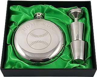 Baseball Flask Gift Set