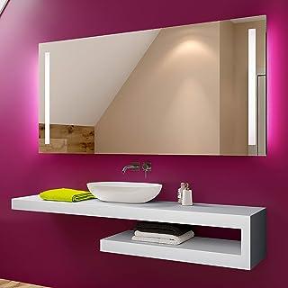 FORAM Espejo de Baño con Iluminación LED - Luz Espejo de Pared con Accesorios - Diferentes tamaños para Baño Dormitorio Maquillaje - L02