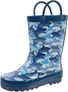 Rain Boots for Girls and Boys, Easy on Handles, Fun Prints,Waterproof,Toddlers & Kids, Ages 2+