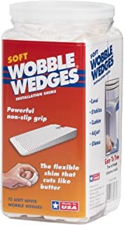 Wobble Wedges Multi-Purpose Shims–Soft White 75 ea –Easy Trim –Protect Delicate Surfaces –Level Household Furniture and Plumbing Fixtures –Stop rattling pipes –Use as Clamping Pad on Angled Surface