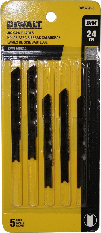 DEWALT Special sale item DW3726-5 3-Inch 24 TPI Dealing full price reduction Thin Cut Metal Steel U-Shan Cobalt