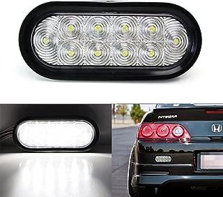 iJDMTOY JDM Style Clear Lens LED Backup Reverse Light For Acura Honda Nissan Mazda Subaru Toyota etc, Powered by (10) Super Bright LED Lights