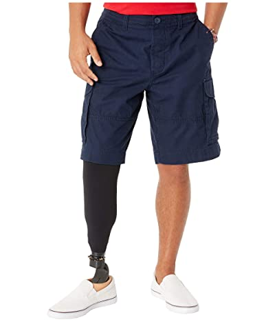 Tommy Hilfiger Adaptive Cargo Shorts with Adjustable Waist and Magnet Buttons (Navy Blazer) Men